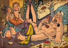 #Orgy of #sexe and #food with #yakuza and #geisha - cover of the new #fanzine Beta #8 by #remedact