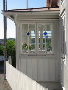 Red Houses, Clematis, Conservatory, Scandinavian Style, Bungalow, Shed, Outdoor Structures, Windows, Places