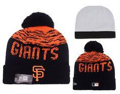 brand new fc062 eac30 Men s   Women s San Francisco Giants New Era MLB On-Field Sports Knit Pom  Pom Beanie Hat - Orange   Black