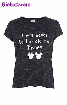 e483bf251d24 I Will Never be Old for Disney T-Shirt