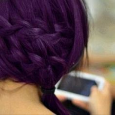 I want very dark, primary-colored hair, red, purple, green, blue--all good!
