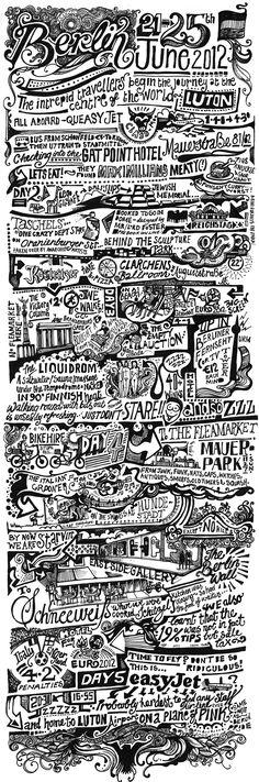 Vic Lee illustrierte seine Berlin-Reise typografisch