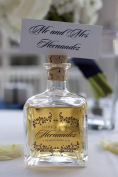 Happy #Tequila Day! - Beaux & Belles: An #EventPlanning Blog - Tequila #WeddingFavor and #EscortCards