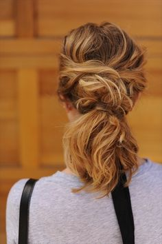 Good News: You don't have to be a hair master to pull off a good-looking ponytail.  Even better is that it doesn't have to be sleek and picture-perfect. You don't even have to use a brush! Wear it low; pull it over your shoulder; add some twists or even try it with wispy tendrils falling around the face. How great is that?  www.terrabaciosalon.com
