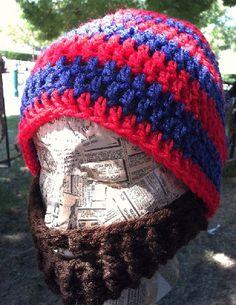 088f8626356707 Fresno State Bulldogs Crochet Cap with Beard by BusyFamilyLife Fresno  State, Crochet Cap, Knitting