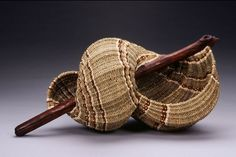 """Chris Warren, Artist, driftwood, wild cherry bark, seagrass and reed. 15"""" x 30"""" x 15"""""""