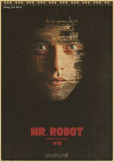 Mr robot TV movie hot film kraft paper retro Poster vintage paintings home decor *** Find out more at the image link. #HomeDecor