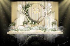 Wedding Stage Backdrop, Wedding Reception Layout, Wedding Backdrop Design, Wedding Stage Decorations, Reception Design, Backdrop Decorations, Wedding Colors, Backdrops, Wedding Gate