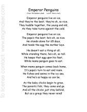 common core - poem about Emperor Penguins - with rhyming acitivty