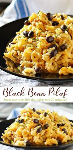 Black Bean Pilaf is an old family recipe that everyone LOVES. White rice…