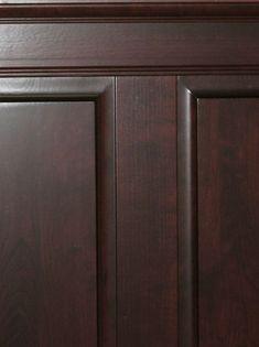 Hardwood Cherry Raised Panel Wainscoting.