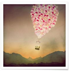 Never Stop Exploring the Sky as Premium Poster by Monika Strigel | JUNIQE