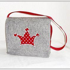 Kindergartentasche WOOL FELT embroidered