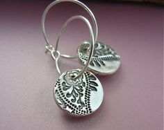 Paisley hoops by sirenjewels on Etsy