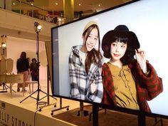 きょうの現場はあくっちゃん(@yurie__a )と一緒でした 公開フォトシューティングでは久しぶりに新田桂一さん(@keiichinitta )に撮ってもらいました #ららぽ富士見フォトコン by setoayumi