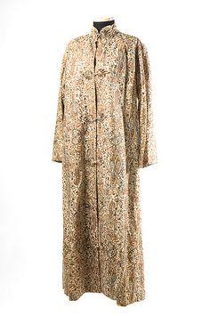 Raw silk coat with paisley design 1960s.