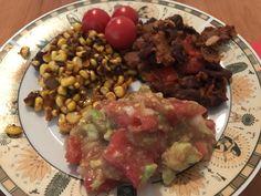 Amazing vegan food: Sweet and spicy corn Fried beens with seitan bits Guacamole :) Best Vegan Recipes, Seitan, Sweet And Spicy, Vegan Food, Guacamole, Fries, Recipies, Amazing, Ethnic Recipes