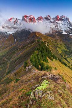 "visitheworld: ""Dents du Midi / Swiss Alps (by Patrick Bellon). """