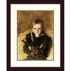 "Global Gallery 'Portrait of Caspar Goodrich' by John Singer Sargent Framed Painting Print Size: 30"" H x 24.09"" W x 1.5"" D"
