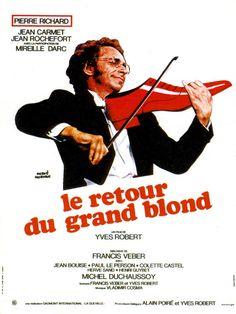 Le retour du grand blond est un film de Yves Robert avec Pierre Richard, Jean Carmet. Synopsis : Le capitaine Cambrai est certain que le colonel Toulouse a utilisé le maladroit François Perrin pour se débarrasser de Milan, son collègue. Cambrai va
