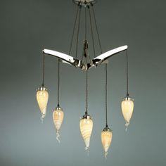 Interiors1900 CA16P5N/G11 Starfish Art Glass Ceiling Fitting