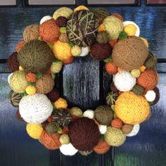 Yarn Ball Wreath ~ DTB