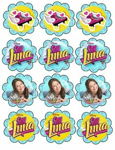 Get These printables and SO MANY MORE at DaisyCelebrates soy-luna-cupcake-topperssoy-luna-cupcake Cumpleaños Soy Luna Ideas, Soy Luna Logo, Soy Luna Cake, Porta Cupcake, Mickey Mouse Art, Skate Party, Son Luna, Party Printables, Holidays And Events
