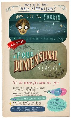 Fourth dimension glasses by Oliver Jeffers