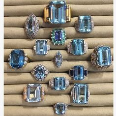 Who would like some #AQUAMARINE to quench your jewelry thirst?  #bluesday #showmeyourrings