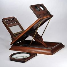 A-very-rare-antique-stereoscope-graphoscope-tabletop-viewer-stereo-viewer