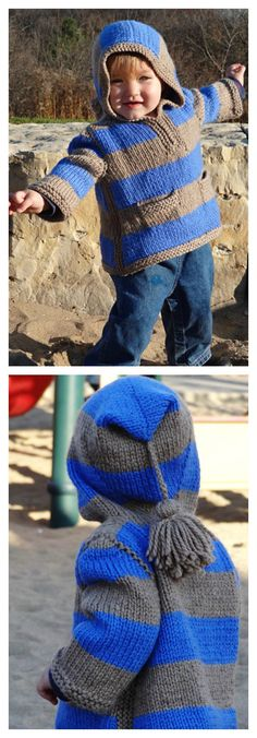 Idaho Hoodie Baby Pullover Sweater Free Knitting Pattern