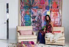 Loving this boho living space! Irene Neuwirth's Beyond-Cool LA Home - One Kings Lane - Style Blog
