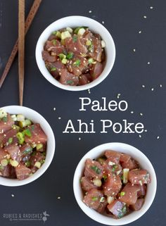 Many poke recipes contain soy sauce. Luckily, Paleo-friendly, soy-free poke is super easy to whip up at home!