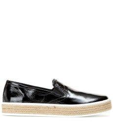Miu Miu - Patent leather slip-on sneakers - mytheresa.com