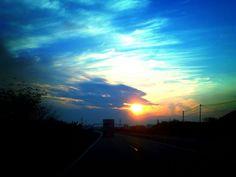 Sunsetting — #sunset #andrography #colors #photography #blue #streamzoo #sun #yellow #view • MyajaTani on Streamzoo
