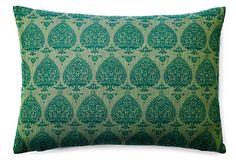 Pallavi 14x20 Pillow, Green on OneKingsLane.com, divine designs