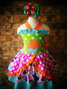 Cupcake Dress Birthday Dress Pageant Dress by divagirlboutique
