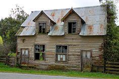 Old house & hotel, Neudorf Road, Blackbird Valley, Nelson, New Zealand