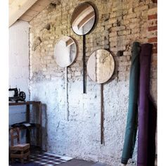 Buy online Retroviseur domestique By miniforms, wall-mounted round mirror design Ionna Vautrin House Of Mirrors, Oversized Wall Mirrors, White Wall Mirrors, Lighted Wall Mirror, Contemporary Wall Mirrors, Round Wall Mirror, Brass Mirror, Mirror Mirror, Modern Wall