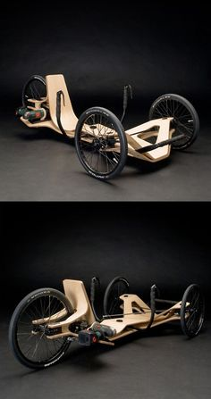 "Created by Jirka Wolff, Andreas Patsiaouras and Marcel Heise, a team of German student designers for the annual ""Akkuschrauberrennen"" competition held by the HAWK University of Applied Sciences and Arts in Hildesheim, Germany, the Rennholz presents a ""serious vehicle concept [for] e-mobility."":"