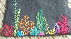 Super easy to free-hand embroider. Great for a road trip project (as long as you aren't the driver)