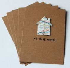New Neighbor Gifts, Change Of Address Cards, New House Announcement, New Home Cards, First Home Gifts, Moving House, Flyer, Card Tags, Greeting Cards Handmade