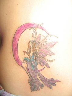 fairy tattoo I would use different colors if I got this