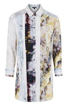 Marble Print Shirt | Top Shop