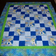 Toddler quilt  Toy Story's star Buzz Lightyear by AStitchinTime72, $40.00