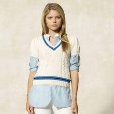 Rugby Ralph Lauren Short-Sleeved Cricket Sweater