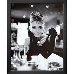 Found it at Wayfair - 'Audrey Hepburn Breakfast at Tiffany's Movie Poster' Framed Photographic Print #buyartforless