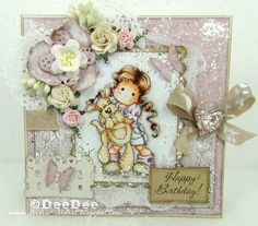 DeeDee´s Card Art: ♥ Marvelous Magnolia DT - Add a sentiment + Emboss ♥
