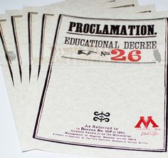 Ministry of Magic Custom Proclamation
