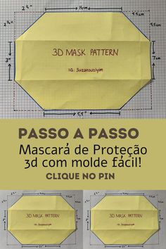 Face Masks For Kids, Easy Face Masks, Diy Face Mask, Sewing Hacks, Sewing Tutorials, Diy Masque, Crochet Mask, Mask Template, Protective Mask